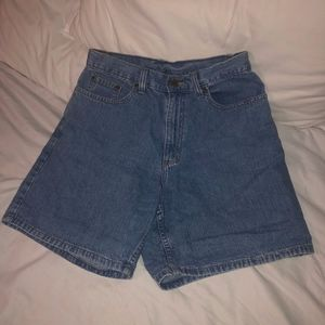LL Bean denim shorts